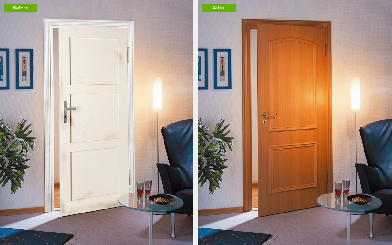 The unique PORTAS Door Renovation System which allows the style and surface of interior doors to be completely transformed within only one day. & Home improvement solutions | PORTAS renovation